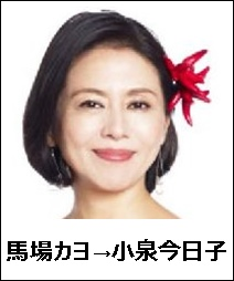 馬場カヨ→小泉今日子1