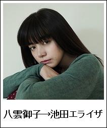 八雲御子→池田エライザ