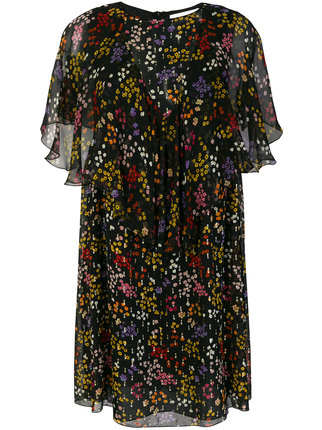 See By Chloé - sheer ruffled floral dress1