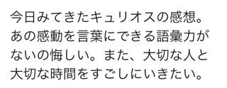 シルクドソレイユ(キュリオス)の公演時間は?口コミや評判&感想も!11