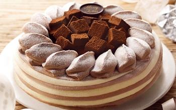 くちどけ生チョコのアイスケーキ