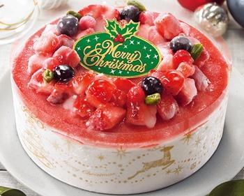 苺のクリスマスデコレーション
