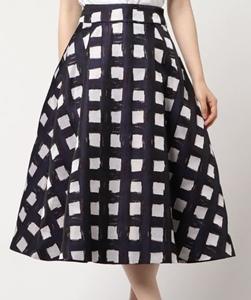 DOUBLE STANDARD CLOTHING チェック ジャガードスカート